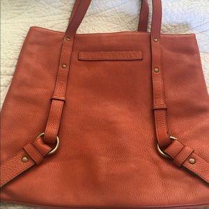 Burnt orange Burberry shoulder purse